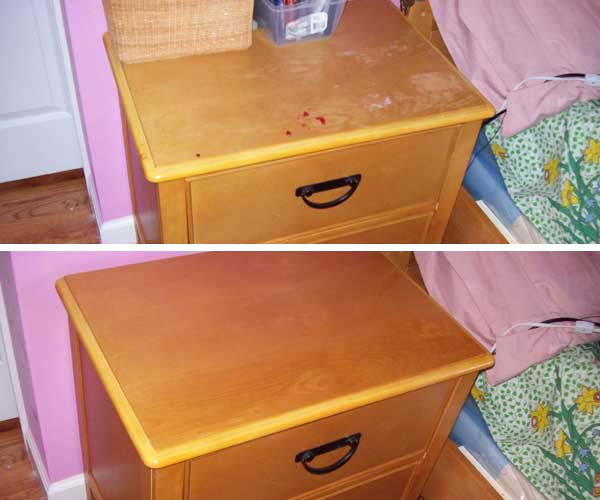 cleaning furniture