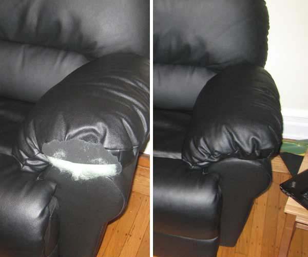 sofa leg repair